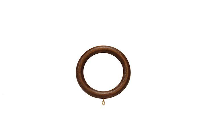 Hallis 45mm Museum Wooden Rings Satin Chestnut