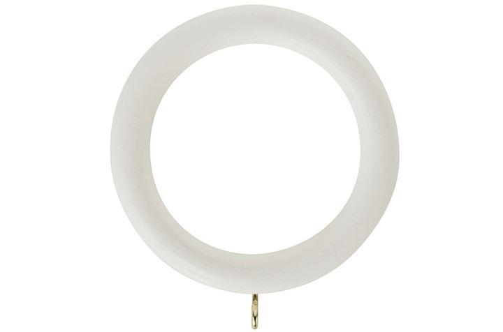 Rolls Honister 50mm Wooden Rings Linen White