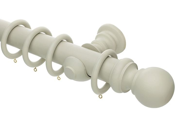 Rolls Honister 50mm Wooden Curtain Pole French Grey