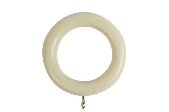Rolls 50mm Woodline Wooden Rings Cream
