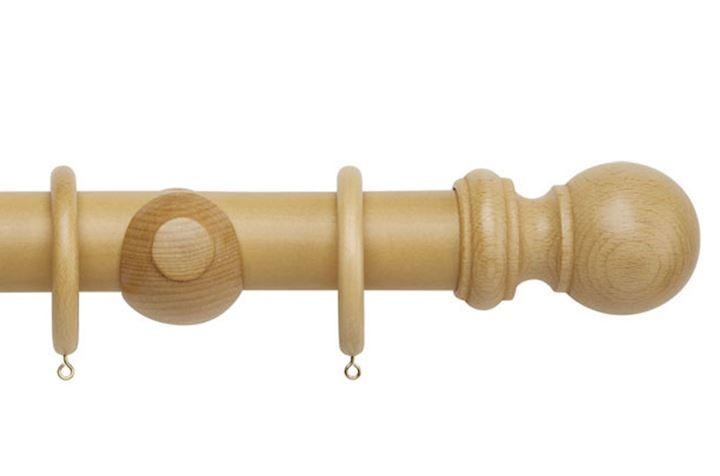 Rolls 50mm Woodline Wooden Curtain Pole Light Oak