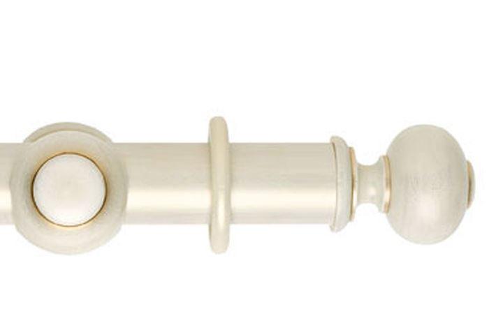 Hallis 55mm Museum Parham Wooden Curtain Pole Cream Gold Wash
