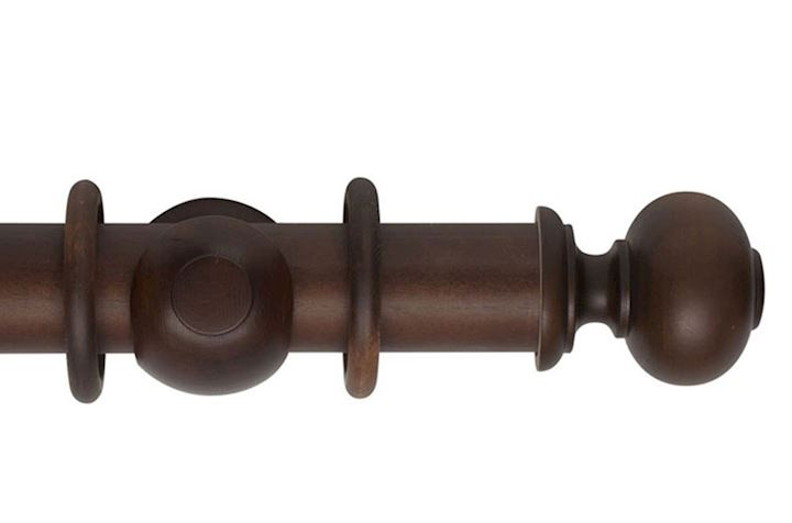 Hallis 55mm Museum Parham Wooden Curtain Pole Satin Chestnut