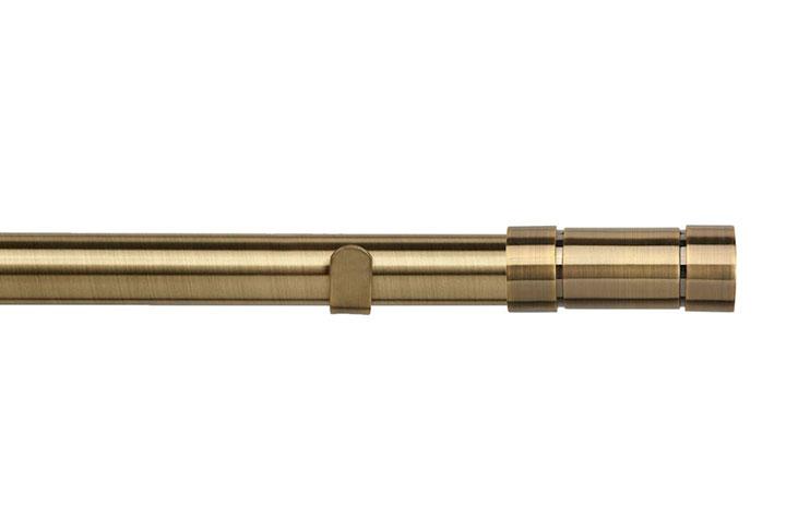 Speedy 28mm Aspect Eyelet Pole Antique Brass
