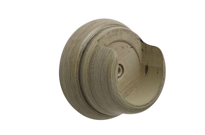 Hallis 45mm Origins Millstone Grey Wooden Recess Brackets