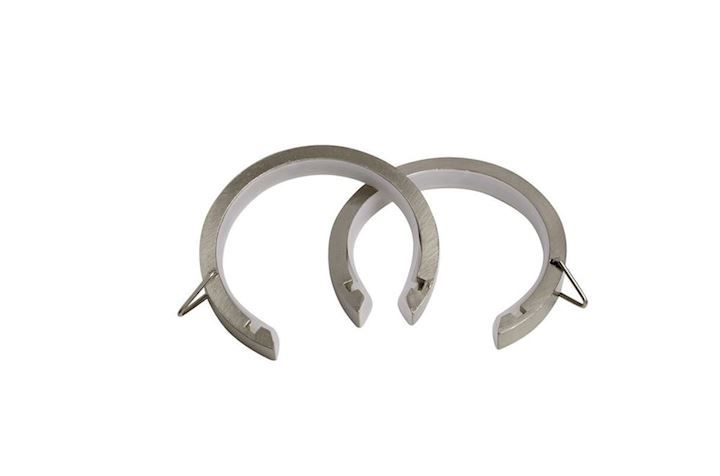 Speedy 28mm Lined Passing Rings Satin Silver