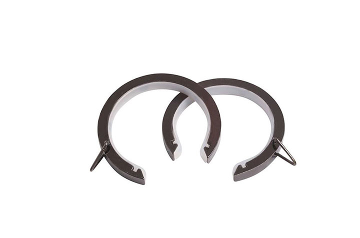 Speedy 28mm Lined Bay Pole Passing Rings Polished Graphite