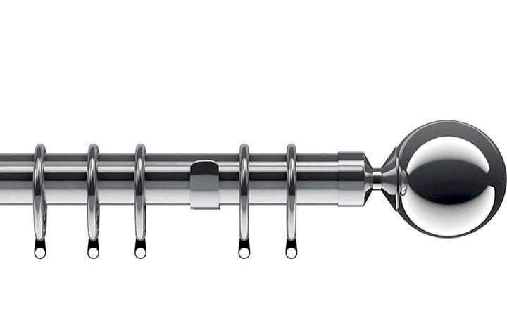 Speedy 28mm Nikola Metal Curtain Pole Chrome