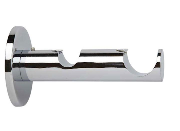 Rolls 19/28mm Neo Metal Double Bracket Chrome