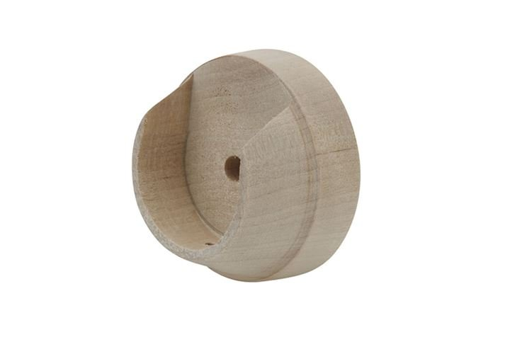 Rolls 35mm Unfinished Wooden Recess Bracket