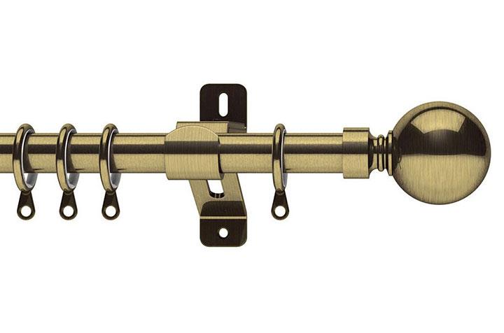 Swish 28mm Elements Belgravia Antique Brass Metal Curtain Pole