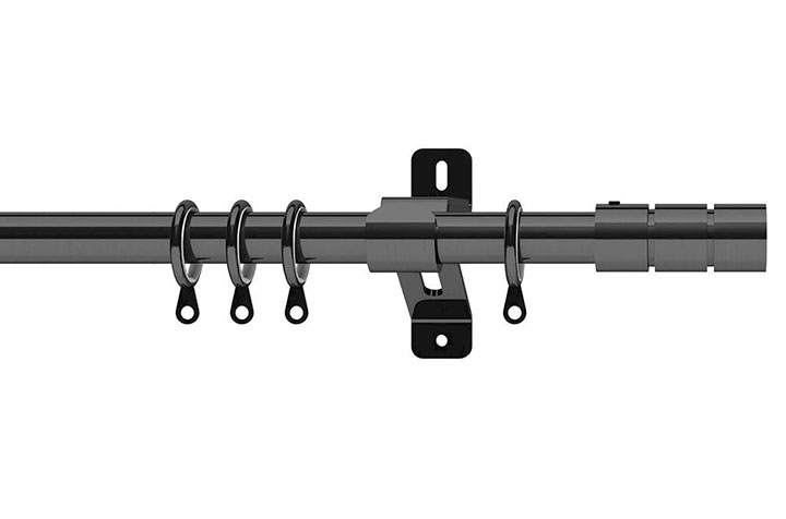 Swish 28mm Elements Brooklyn Graphite Metal Curtain Pole