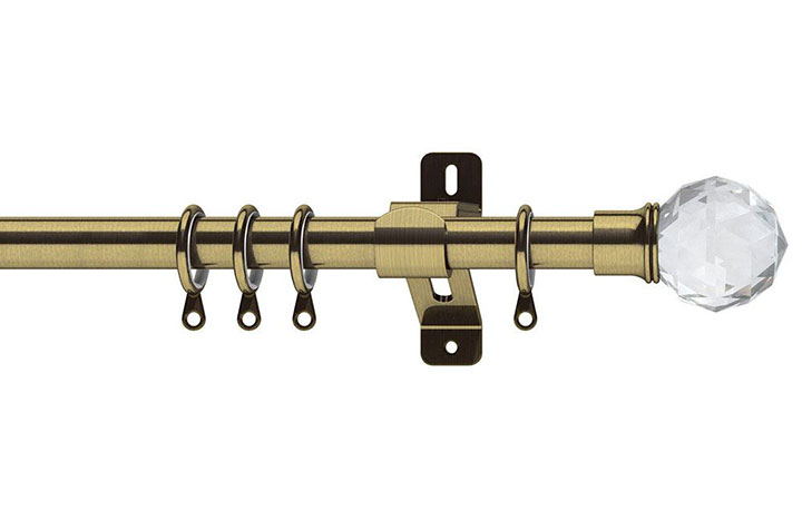 Swish 28mm Elements Capella Antique Brass Metal Curtain Pole