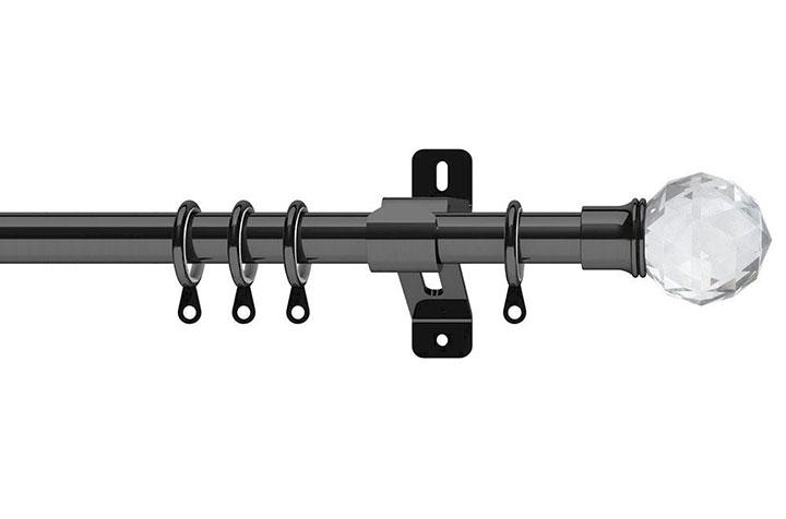 Swish 28mm Elements Capella Graphite Metal Curtain Pole