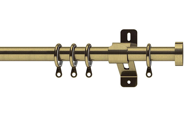 Swish Elements Stud 25-28mm Antique Brass Extendable Curtain Pole