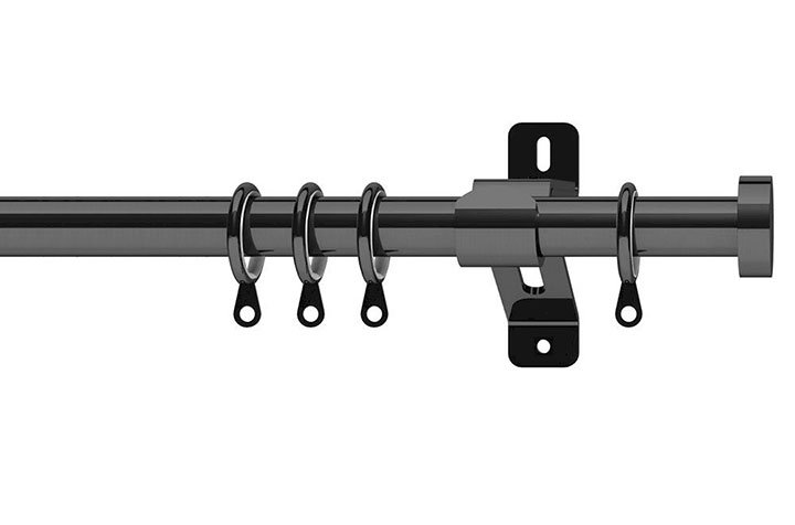 Swish 28mm Elements Stud Graphite Metal Curtain Pole