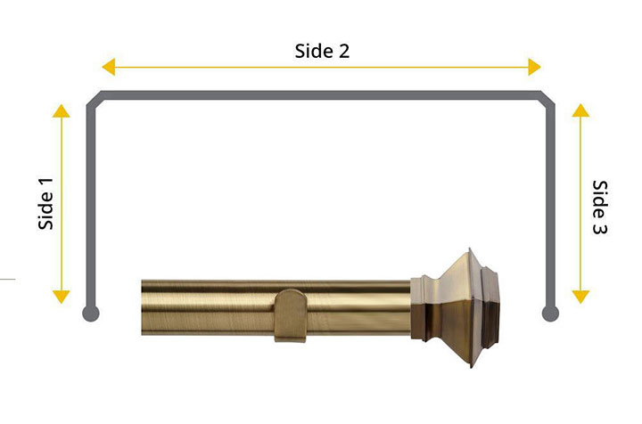 Speedy 35mm Aztec 3 Sided Bay Window Antique Brass
