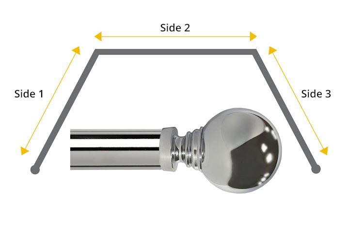 Speedy 35mm Globe 3 Sided Bay Window Chrome
