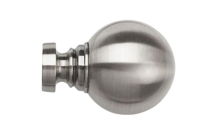 Speedy 35mm Globe Satin Steel Finial