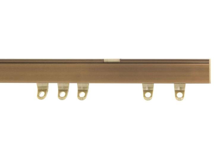 Speedy Fineline Uncorded Curtain Track Aluminium Antique Brass