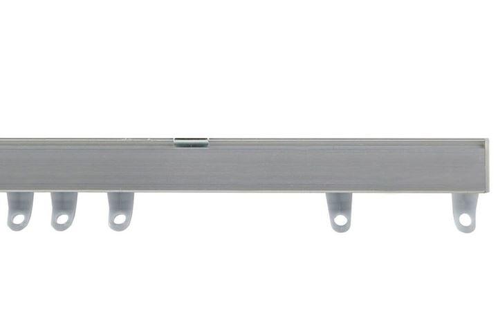 Speedy Fineline Uncorded Curtain Track Aluminium Silver