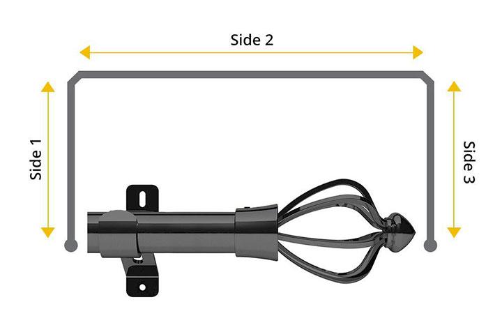 Swish 28mm Consort Graphite 3 Sided Bay Window Pole
