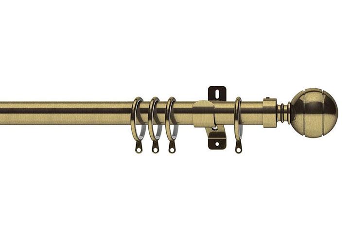 Swish 28mm Elements Lexington Antique Brass Metal Curtain Pole