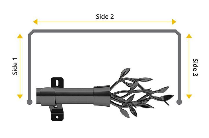 Swish 35mm Entwine Graphite 3 Sided Bay Window Pole