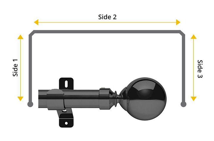 Swish 28mm Mondiale Graphite 3 Sided Bay Window Pole