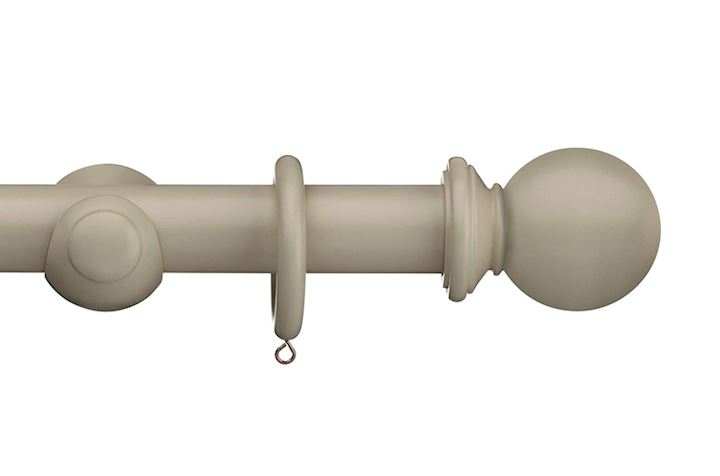 Swish 35mm Romantica April Cloud Ball Wooden Curtain Pole