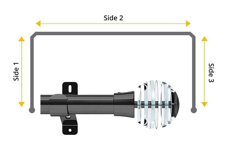 Swish 35mm Rondelle Graphite 3 Sided Bay Window Pole