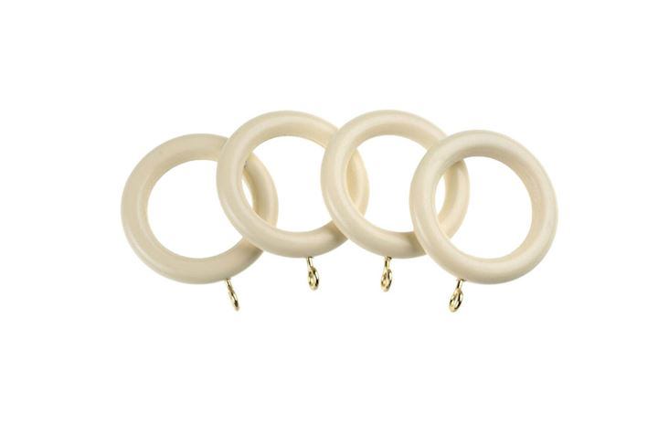 Universal 28mm Cream Wooden Rings