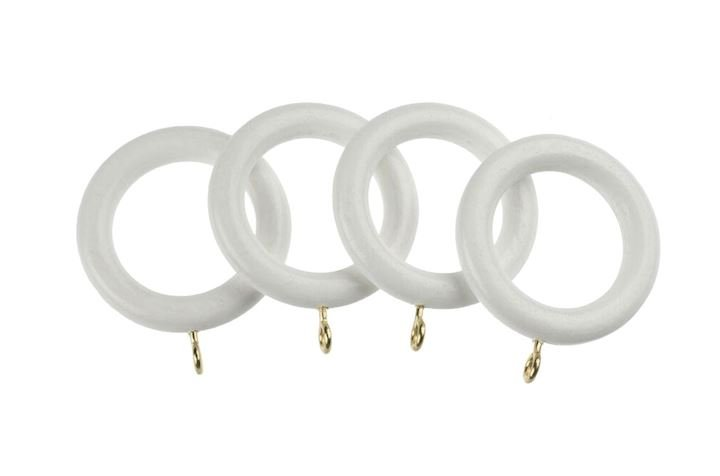 Universal 35mm White Wooden Rings