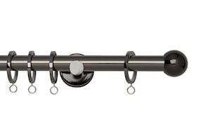 Rolls 19mm Neo Ball Metal Curtain Pole Black Nickel