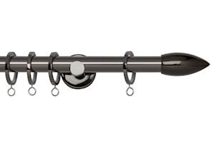 Rolls 19mm Neo Bullet Metal Curtain Pole Black Nickel