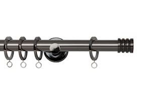 Rolls 19mm Neo Stud Metal Curtain Pole Black Nickel