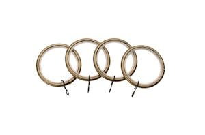 Universal 19mm Antique Brass Curtain Pole Rings