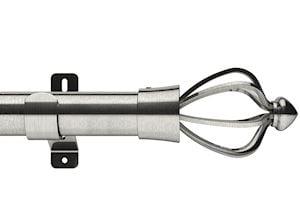 Swish 28mm Design Studio Consort Satin Steel Eyelet Pole
