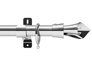 Swish 28mm Design Studio Blossomtime Chrome Metal Curtain Pole