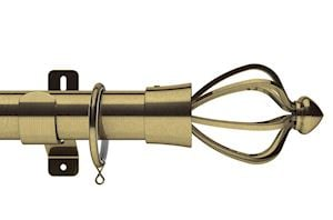 Swish 28mm Design Studio Consort Antique Brass Metal Curtain Pole