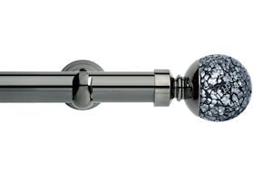 Rolls 28mm Neo Mosaic Ball Metal Eyelet Pole Black Nickel