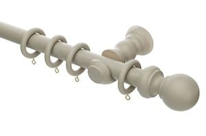 Rolls Honister 28mm Wooden Curtain Pole Caffe Latte - Thumbnail 1