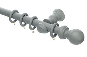Rolls Honister 28mm Wooden Curtain Pole Pale Slate