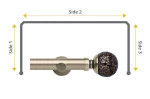 Rolls Neo 28mm Bay Window Eyelet Pole Mosaic Ball Spun Brass