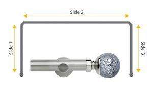 Rolls Neo 28mm Bay Window Eyelet Pole Mosaic Ball Stainless Steel