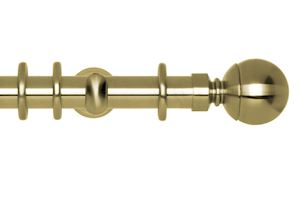 Rolls 28mm Neo Ball Metal Curtain Pole Spun Brass