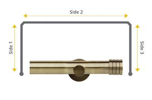 Rolls Neo 28mm Bay Window Eyelet Pole Stud Spun Brass