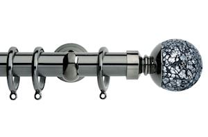 Rolls 28mm Neo Mosaic Ball Metal Curtain Pole Black Nickel