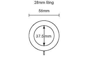 Rolls 28mm Woodline Wooden Rings White - Thumbnail 2