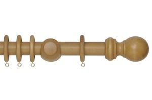 Rolls 28mm Woodline Wooden Curtain Pole Light Oak